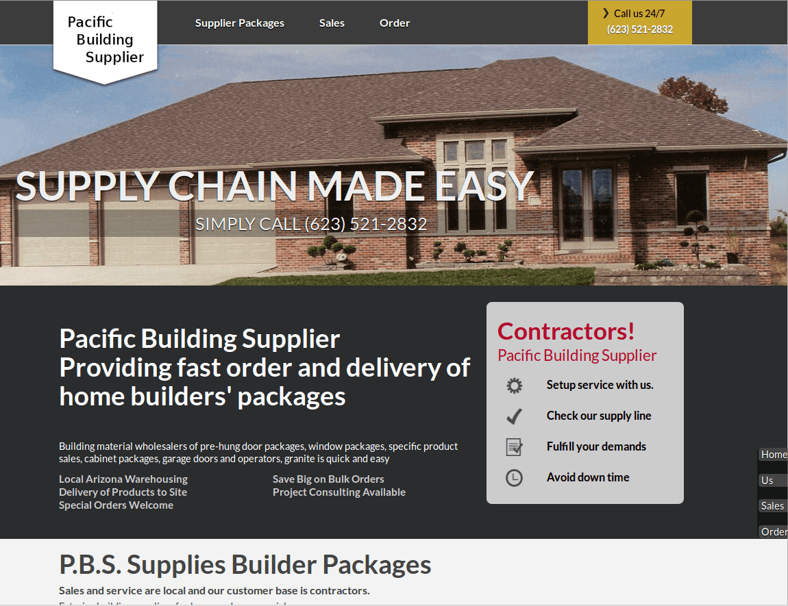 pacific building supplier